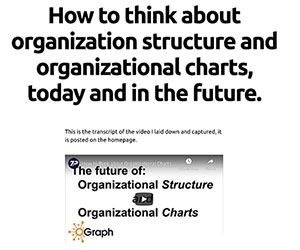 how to think about organizational structure and organizational charts